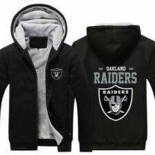 Oakland Raiders Football fan's Thicken Hoodie winter Hooded Coat fleece Jacket