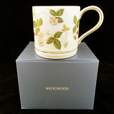 "WILD STRAWBERRY Wedgwood MUG TANKARD 3.25"" tall NEW NEVER USED IN BOX England"