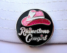 Rhinestone Cowgirl Golf Ball Marker with Crystals and Magnetic Hat Clip