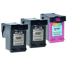 3PK 901XL Black & Color Ink Cartridges for HP Officejet 4500 G510 Series Printer