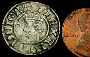 W061: Alexander III Scottish Hammered Silver Penny - PERTH Mint, Spink 5055