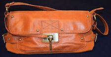 Sisley bag purse Genuine leather/canvas,Orange VGC!