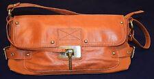 Sisley bag purse Genuine leather/canvas,Orange VGC!