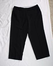 George 6 London Fit Womens Black Dress Capris Capri Pants W30 H36 R9.5 L21.5