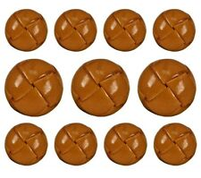 11Antique Brown Shank Leather Buttons Set for Suit Jackets, Blazer, Sport Coat