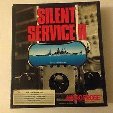 Commodore Amiga Game Complete - Silent Service II (PC, 1990) (Rare)