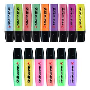 Stabilo Boss Original Highlighter Pens - Original & Pastel - 15 Colours
