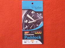 original Nürburgring Paddock Card Blancpain RACE Weekends 2013 Pirelli elf TOP