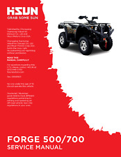 Hisun HS Forge 500 700 ATV Service Owners & Parts CD Trail Tamer Grey Wolf Rodeo