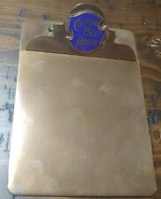 COTTON BELT ROUTE SMALL BRONZE CLIP BOARD ST LOUIS SOUTH WESTERN LOGO NICE!