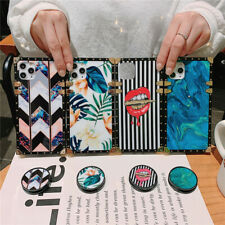For iPhone 11 Pro Max Samsung Note20 Shockproof Square Hard Kickstand Case Cover