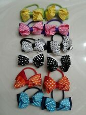 6 baby girls hair bows toddler Mix Color hair accessories 2 inches