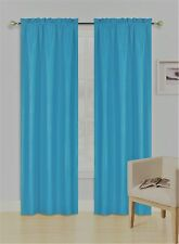 1 Set Rod Pocket Insulated Foam Thermal Lined Blackout Window Curtain R64