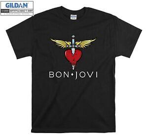Bon Jovi Heart And Dagger Logo T-shirt Cool T shirt Men Women Unisex Tshirt 3901