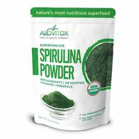 Organic Spirulina Powder 100% Pure All Natural Raw Vegan Gluten-Free USDA 16 oz