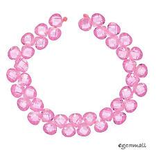 17 Cubic Zirconia Hand Cut Freeform Nugget Beads 12x15mm Dark Champagne #96109