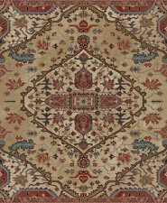 Divine Area Rug Runner Lodge Cabin Rustic Abstract Beige Red Blue Matching Set