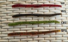 12 leurres souples ver Worm Kutbert ( type Flicker PAYO ) pêche wacky blackbass