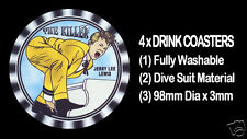 4  x  JERRY LEE LEWIS - THE KILLER - ROCK 'N ROLL - DRINK COASTERS - Re-usable