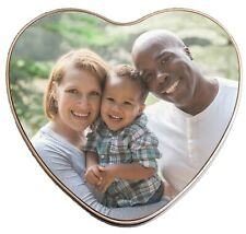 Personalised Heart Shaped Metal Storage Tin Box - Add a photo or any text