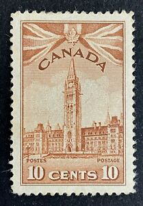 Canadian Stamp, Scott #257 10c 1942 Parliament Buildings M/LH