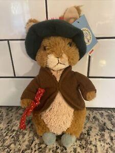"Gund Classic Beatrix Potter Benjamin Bunny Stuffed Animal 8"" With Ears NWT"