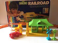 Vintage Child Guidance Sesame Street Railroad Complete w/Box 1983  CookieMonster
