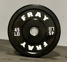 Fray Fitness Barbell Plates Pair 45 LB Rubber Bumper Plates Brand New In The Box