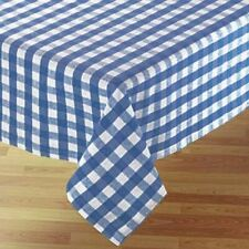 Country Style Kitchen Table Cloth BLUE GINGHAM Tablecloth 150x300cm New