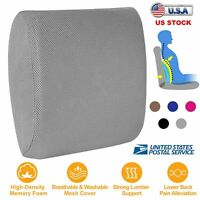 Lumbar Support Pillow Memory Foam Back Cushion Office Chair With 3D Mesh Cover