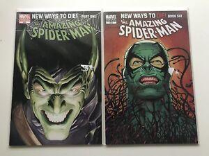 AMAZING SPIDER-MAN #568 & 573 ==> NM/NM+ ROSS VARIANT GREEN GOBLIN & SCORPION