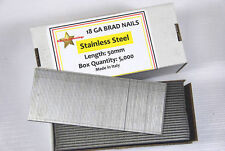 18 GAUGE 50MM STAINLESS STEEL BRAD NAILS - BOX 5000
