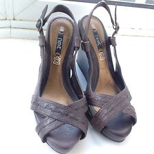 Next Brown Leather  Wedge Heels in good condition.Size 6.5