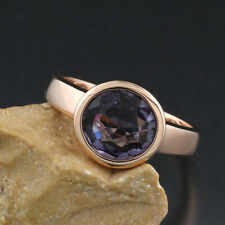 Ring Solitär Spinell 3,02 carat blau violett 750-Roségold Einzelanfertigung neu
