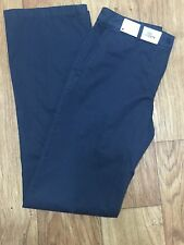 NWT $185 Lacoste Women's  NAVY Twill Wide Leg Chino Pants HF1199 EU 40 US 8