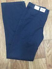 NWT $185 Lacoste Women's  NAVY Twill Wide Leg Chino Pants HF1199 EU 40 US 8