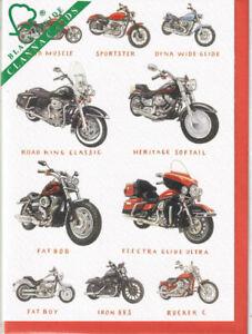 Harley Davidson Motorcycles Greetings Card birthday Richard Partis Clanna Cards