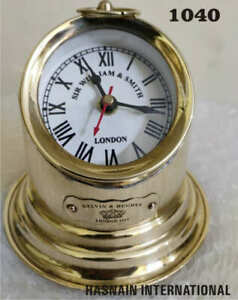 Chrome Marine Working Ship Binnacle Brass Hanging Clock & Home Decor Replica
