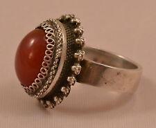 EXKLUSIVER MEXICO Ring Jaspis Giftring Geheimfach SILBER Native Indianer RG 54