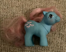 Vintage 1984 Hasbro My Little Pony - Baby Bow Tie Blue With Pink Hair G1