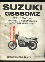 Suzuki GS550M Katana (1982 >>) Genuine Factory Set-Up Manual GS 550 M MZ BV62