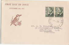 1951 Australia 3d green KGV1 definitive pair on HIGGINS generic manufactured FDC