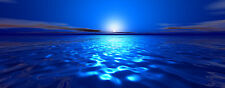 """Magic 10""""X30"""" Long Canvas Pictures Deep Blue Sea Calm Super Wall Artwork Prints"""
