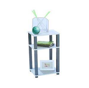 Regal Telefontisch Standregal Beistelltisch weiß-alufarbig 58,5 x 29 x 34 cm NEU