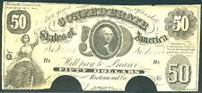 """1861, T8, $50, Washington, serial letter Bb, """"For"""" before """"Trea'r"""" is printed,"""