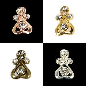 Silver,Gold,Bronze,WGP etc Crystal Pendant Pinch Bails 8x13mm 4pcs