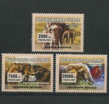 African Elephants Set of 3 mnh stamps 2007 Guinea