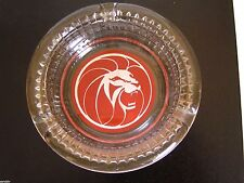 Original MGM Grand Las Vegas Glass Ashtray Vintage 1970's