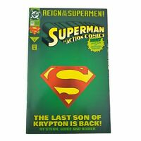 ACTION COMICS Superman #78 1993 Reign Of The Supermen Deluxe Diecut Cover VF/NM