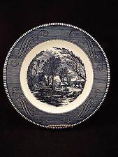 "Set of (8) Royal Currier & Ives 10"" Old Grist Mill Dinner Plates"